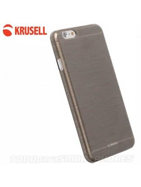 Funda KRUSELL iPhone 6s/6 Boden Cover Negra Humo Translucida