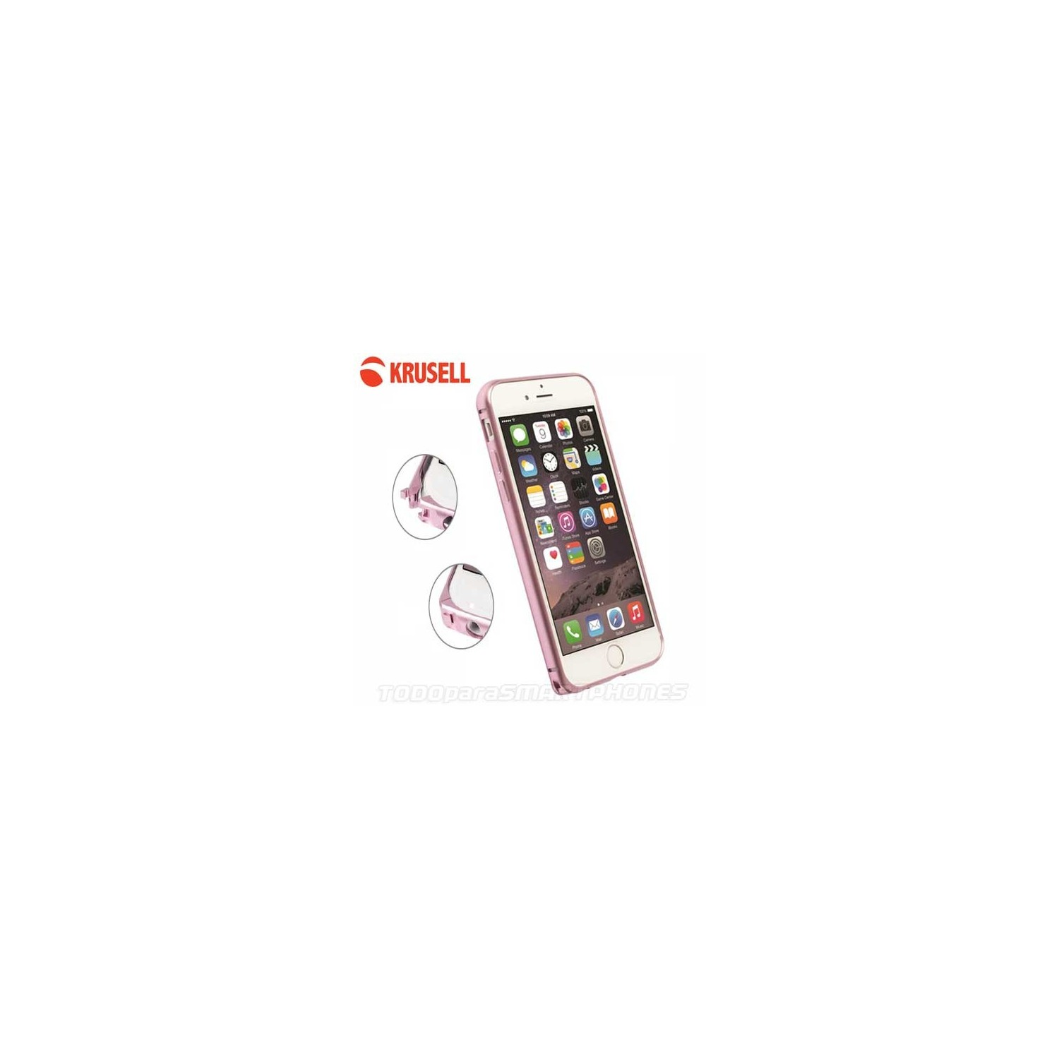 Case - Krusell AluBumper for iPhone 6/6s Pink