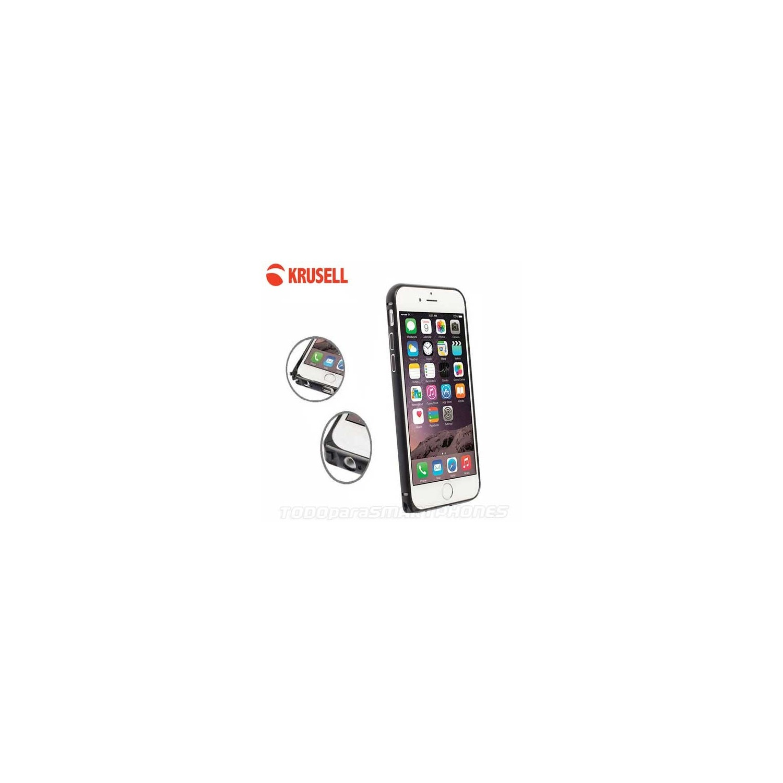 Funda KRUSELL iPhone 6s/6 Plus AluBumper Aluminio Negro