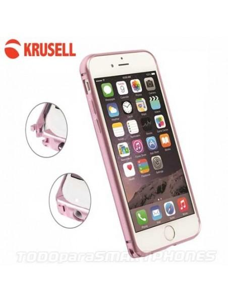 Funda KRUSELL iPhone 6s/6 AluBumper Aluminio Rosa