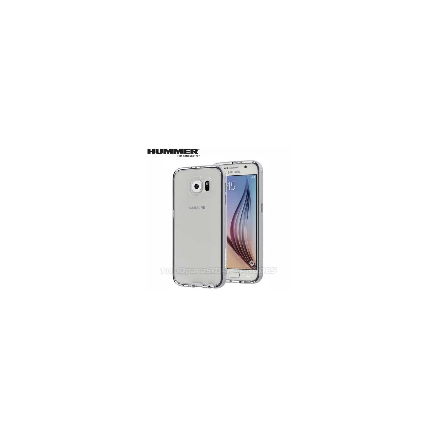 Case - HUMMER® H3 For Samsung S6 Clear Silver