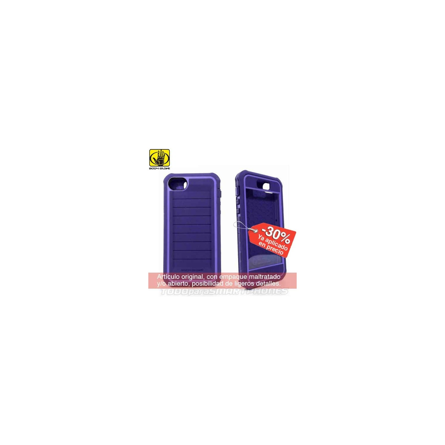 Case - Body Glove for iPhone 5 Shocksuit purple
