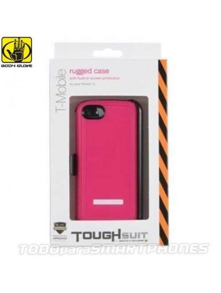 Funda BODY GLOVE iPhone 5 Thougsuit Rosa con clip giratorio