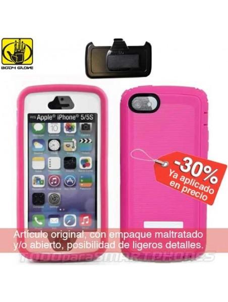 Funda BODY GLOVE iPhone SE/5s/5 Thougsuit Rosa con clip giratorio