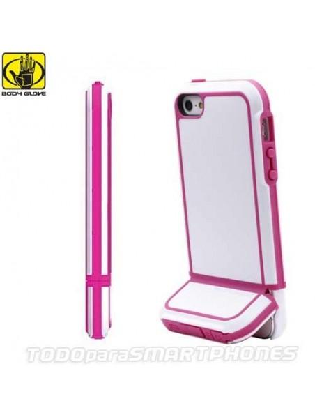 Funda BODY GLOVE iPhone SE/5s/5 Tracksuit Blanca Rosa