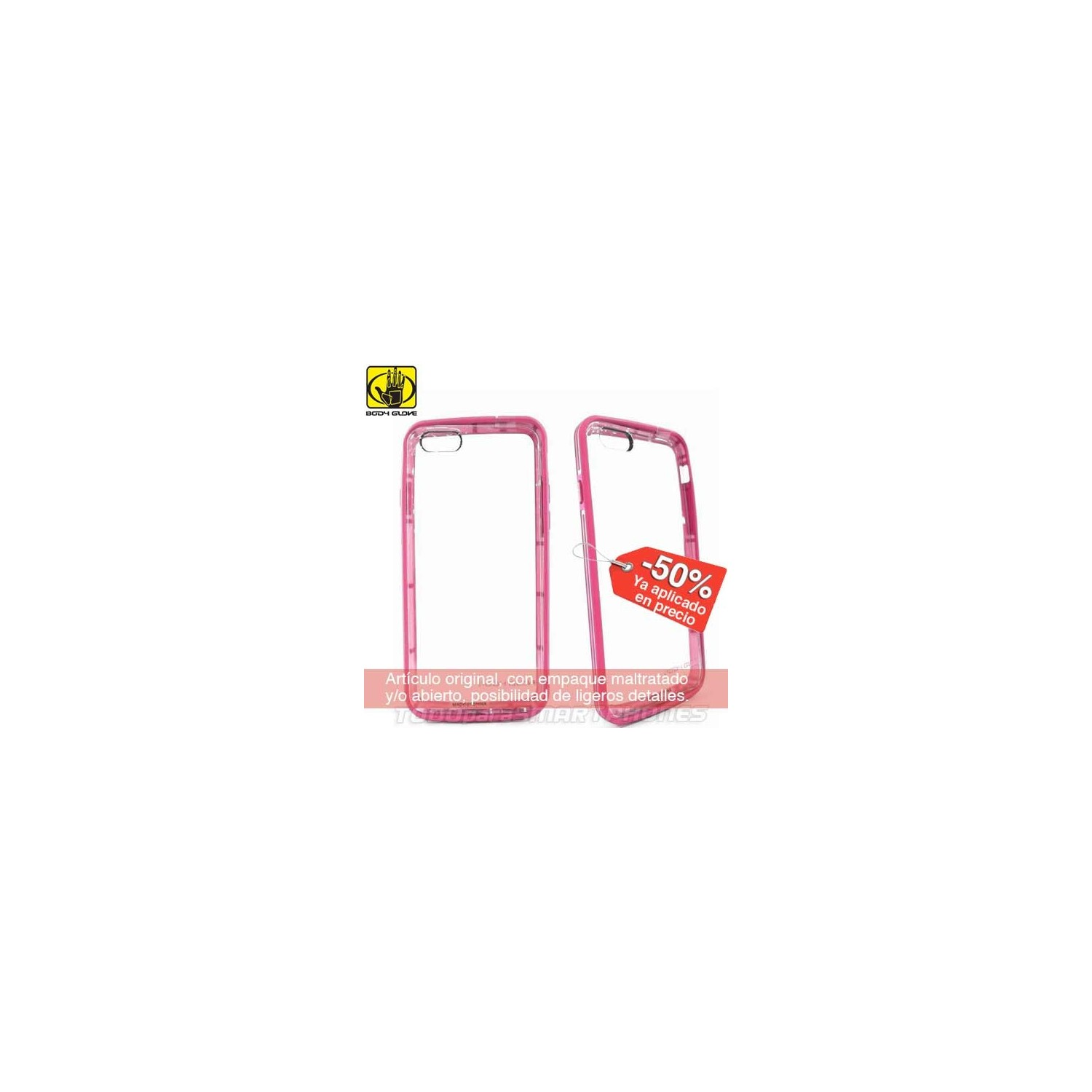 Case - Body Glove for iPhone 6 MySuit Clear Pink