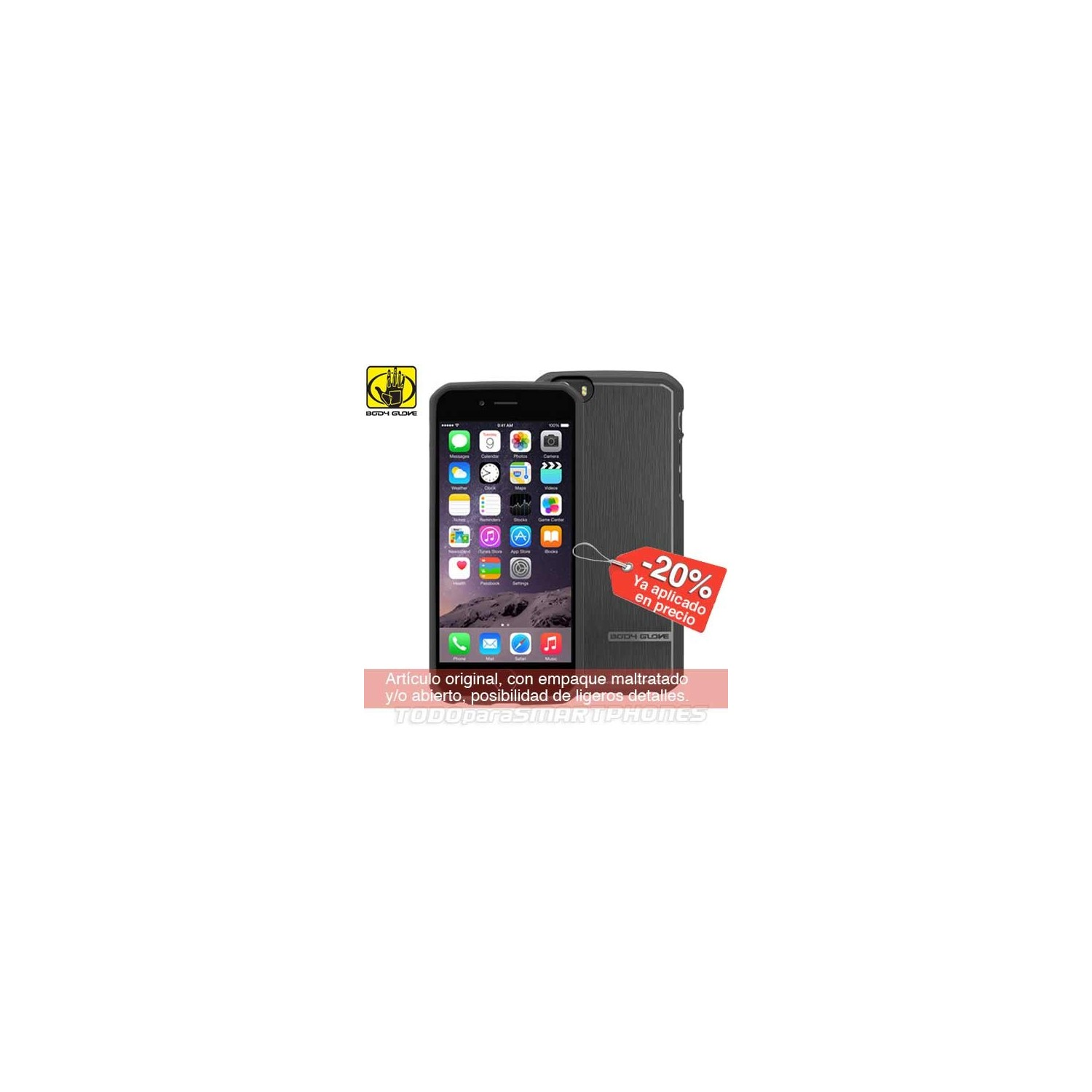 Case - Body Glove for iPhone 6 Plus Satin Black