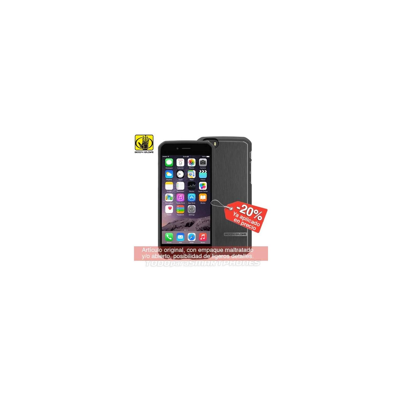 Funda BODY GLOVE iPhone 6s/6 PLUS Satin Negra