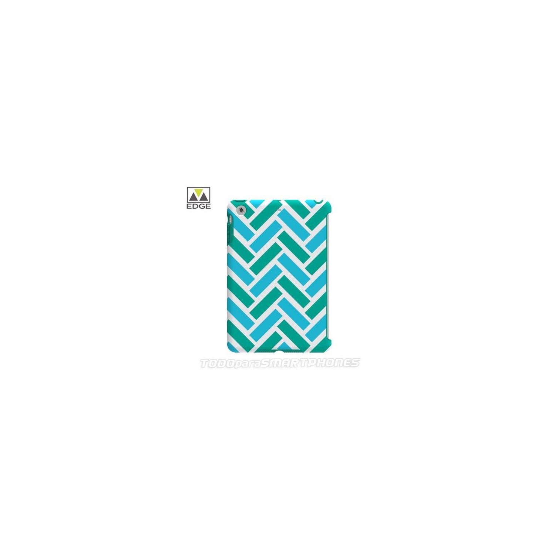 "Funda M-EDGE ""Echo"" para iPad Mini 1/2/3 Azul Verde Lineas"