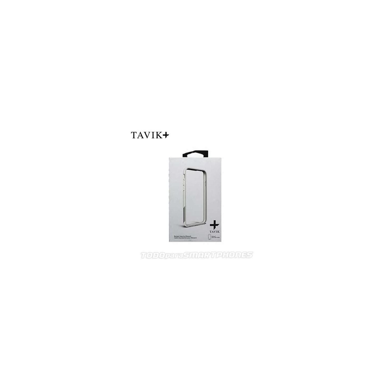 Funda TAVIK iPhone 6s/6 Bumper Blanco Gris