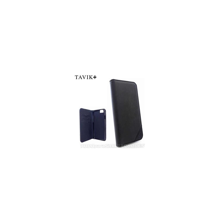 Funda TAVIK iPhone 6s/6 Lindan Folio Cartera Negro