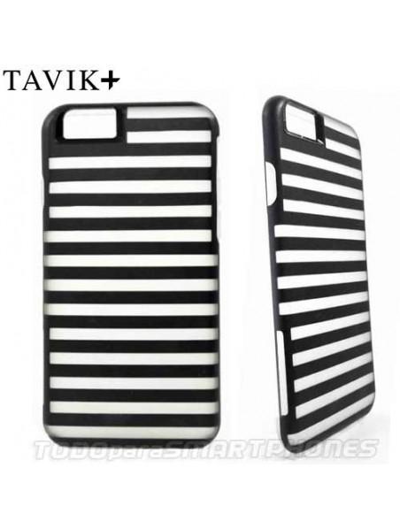 Funda TAVIK iPhone 6s/6 Hollow Transp Negro Rayas